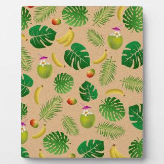 Tropical pattern plaque