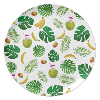 Tropical pattern plate