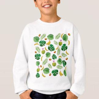 Tropical pattern sweatshirt
