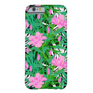 Tropical Pattern With Jungle Flowers Barely There iPhone 6 Case