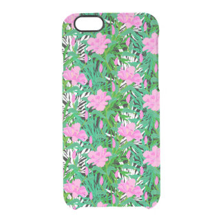 Tropical Pattern With Jungle Flowers Clear iPhone 6/6S Case