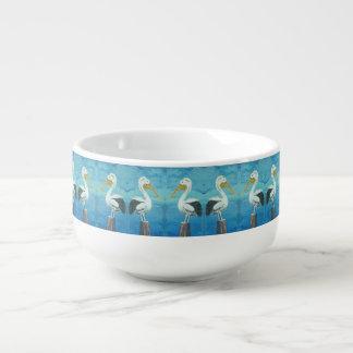 Tropical Pelican Jumbo Bowl – Blue White by Yotigo