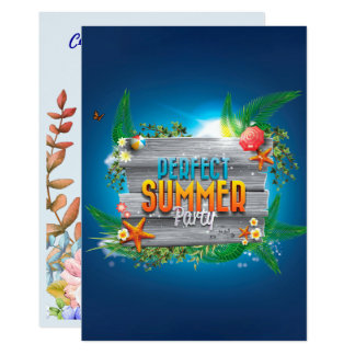Tropical Perfect Summer Party Invite