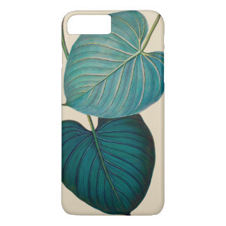 Tropical Philodendron Green Leaves Case