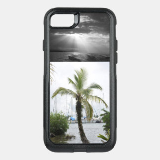 Tropical Phone Case –  Palm Tree Caribbean Sunset