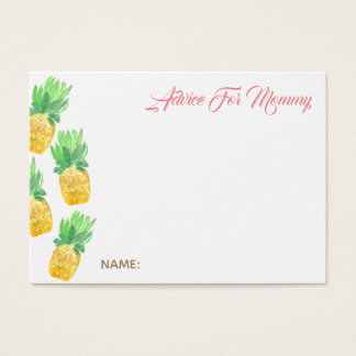 Tropical pineapple advice for mommy card baby