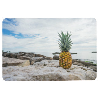 Tropical Pineapple at the Beach Floor Mat