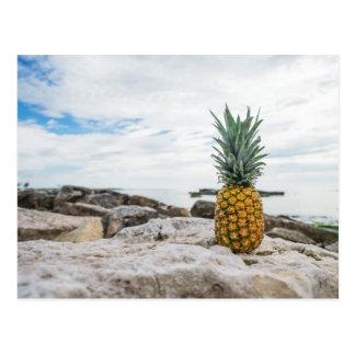 Tropical Pineapple at the Beach Postcard