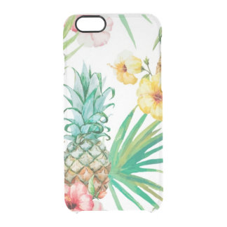 Tropical pineapple Hawaii iPhone 6/6s Clearly™ Def Clear iPhone 6/6S Case