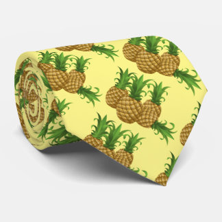 Tropical Pineapple Hawaiian Pattern Aloha Tie
