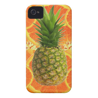 TROPICAL PINEAPPLE & JUICY ORANGE SLICES FRUIT Case-Mate iPhone 4 CASE