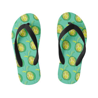Tropical pineapple kid's thongs