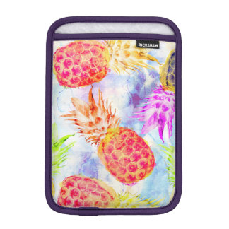 Tropical Pineapple Pattern Beautiful Watercolor iPad Mini Sleeve
