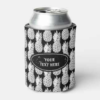 Tropical pineapple pattern custom can coolers