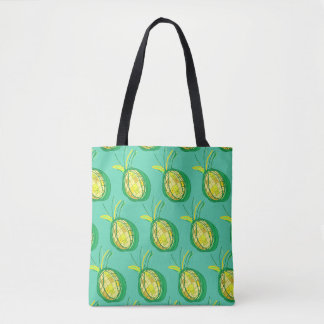 Tropical pineapple tote bag