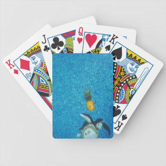 TROPICAL PINEAPPLE TURTLE POOL BICYCLE PLAYING CARDS