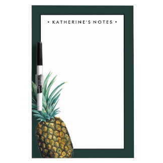 Tropical Pineapple Watercolor Dry Erase Board