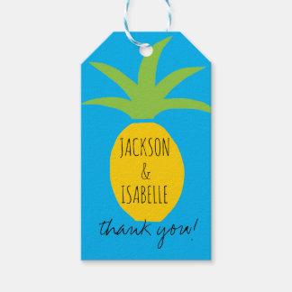 Tropical Pineapple Wedding Favor Tags