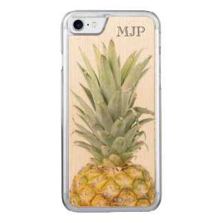 Tropical Pineapple with Monogram Carved iPhone 8/7 Case