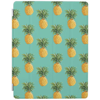 Tropical Pineapples On Teal iPad Cover