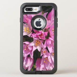 Tropical Pink and Yellow Flowers OtterBox Defender iPhone 8 Plus/7 Plus Case