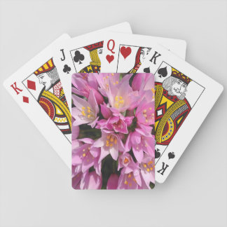 Tropical Pink and Yellow Flowers Playing Cards