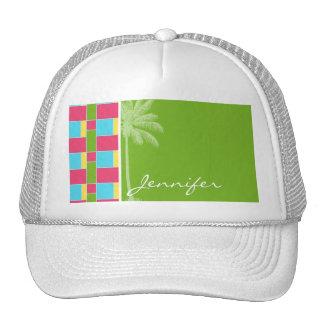 Tropical Pink, Blue, Green, & Yellow Trucker Hat