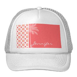 Tropical Pink & Coral Polka Dots Cap