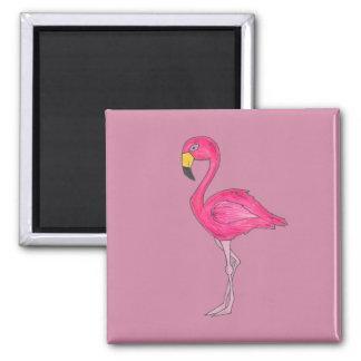 Tropical Pink Flamingo Bird Magnet
