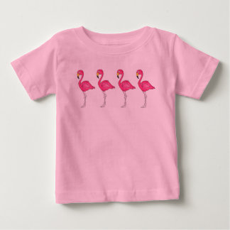 Tropical Pink Flamingo Flamingos Bird Birds Tee