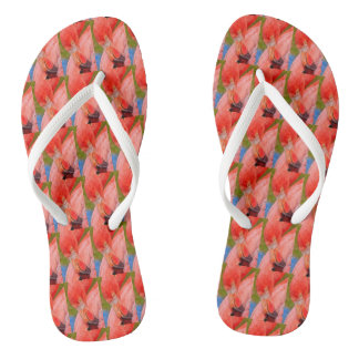 Tropical Pink Flamingo Flipflops Beach Florida