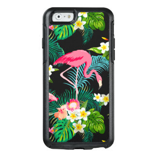 Tropical Pink Flamingo Floral Watercolor OtterBox iPhone 6/6s Case