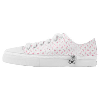 Tropical Pink Flamingo Low Top Shoes