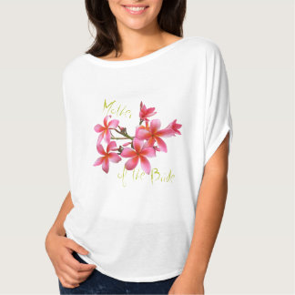 Tropical Pink Floral Mother of the Bride T-Shirt