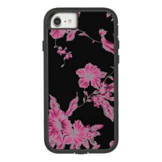 Tropical pink flower case