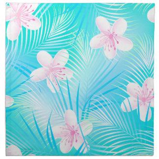 Tropical pink frangipani napkin
