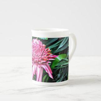 Tropical Pink Ginger Bone China Mug