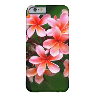 Tropical Pink Green Plumeria Flower Floral Photo Barely There iPhone 6 Case