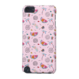 Tropical Pink Memphis Style Pattern iPod Touch (5th Generation) Cover