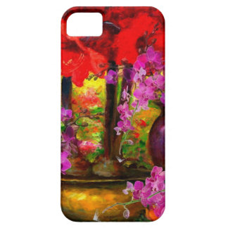TROPICAL PINK ORCHIDS RED AMARYLLIS STILL LIFE BARELY THERE iPhone 5 CASE