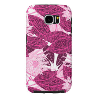 Tropical pink spotted floral samsung galaxy s6 cases
