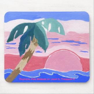 Tropical Pink Sunrise Mousepad
