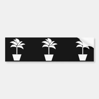 Tropical Plant In Pot Bumper Stickers