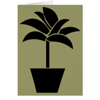 Tropical Plant In Pot Greeting Card