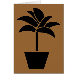 Tropical Plant In Pot Note Card