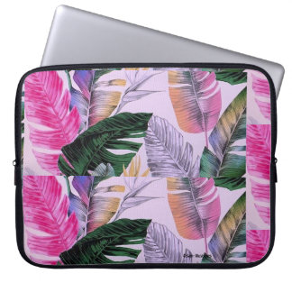 Tropical Plant Pattern Computer Laptop Sleeve