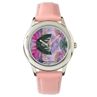 Tropical Plant Pattern Kids Watch