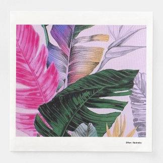 Tropical Plant Pattern Napkins Disposable Serviette