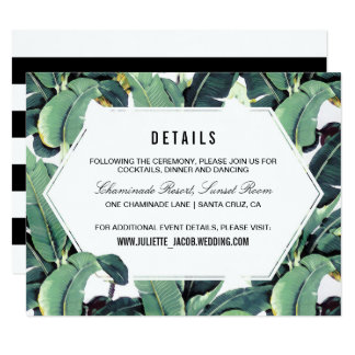 Tropical Plantation Reception Information Card