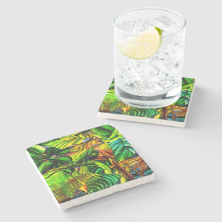 Tropical Plants Stone Coaster